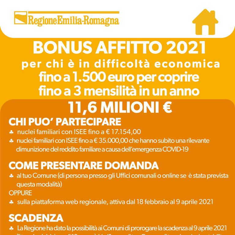 Bonus affitto 2021: come partecipare