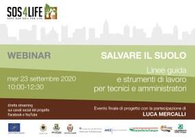 Progetto SOSforLife: 23 settembre evento finale di progetto